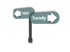 At the corner of Hot and Trendy